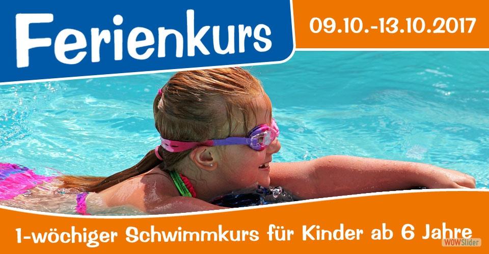 Ferienkurs - Schwimmkurse für Kinder ab 6 Jahre in den Oktoberferien 2017